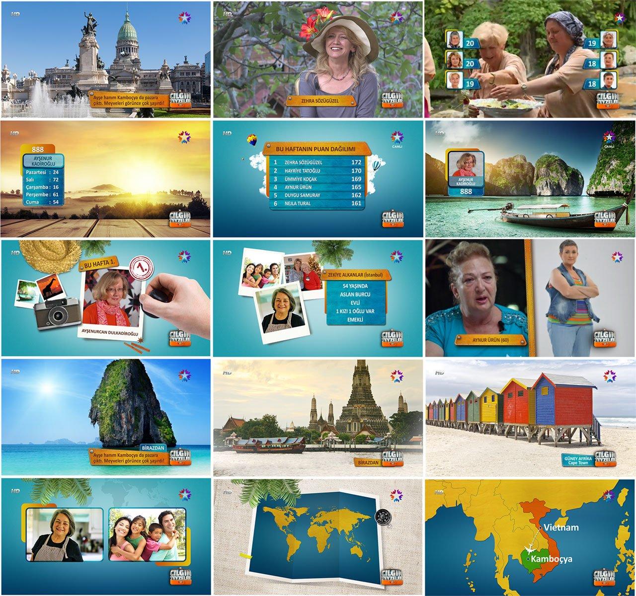 screen graphics for a tv program