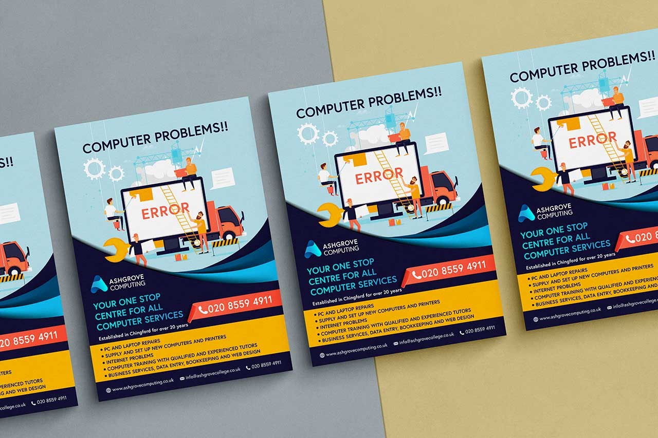 A range of computing technology posters