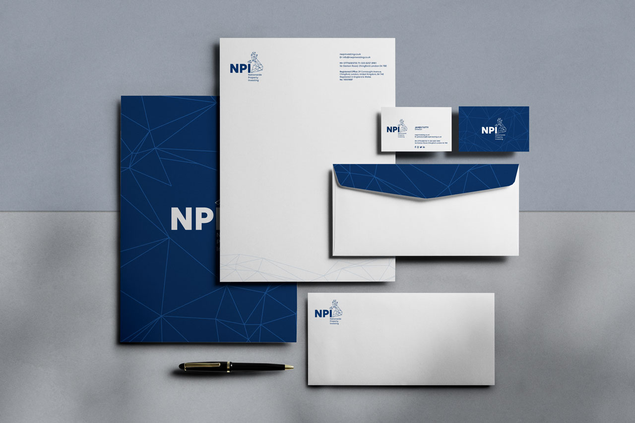 Stationery, letterhead, envelope, folder and business cards
