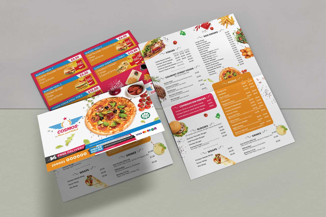 Leaflet for Cosmos Catering