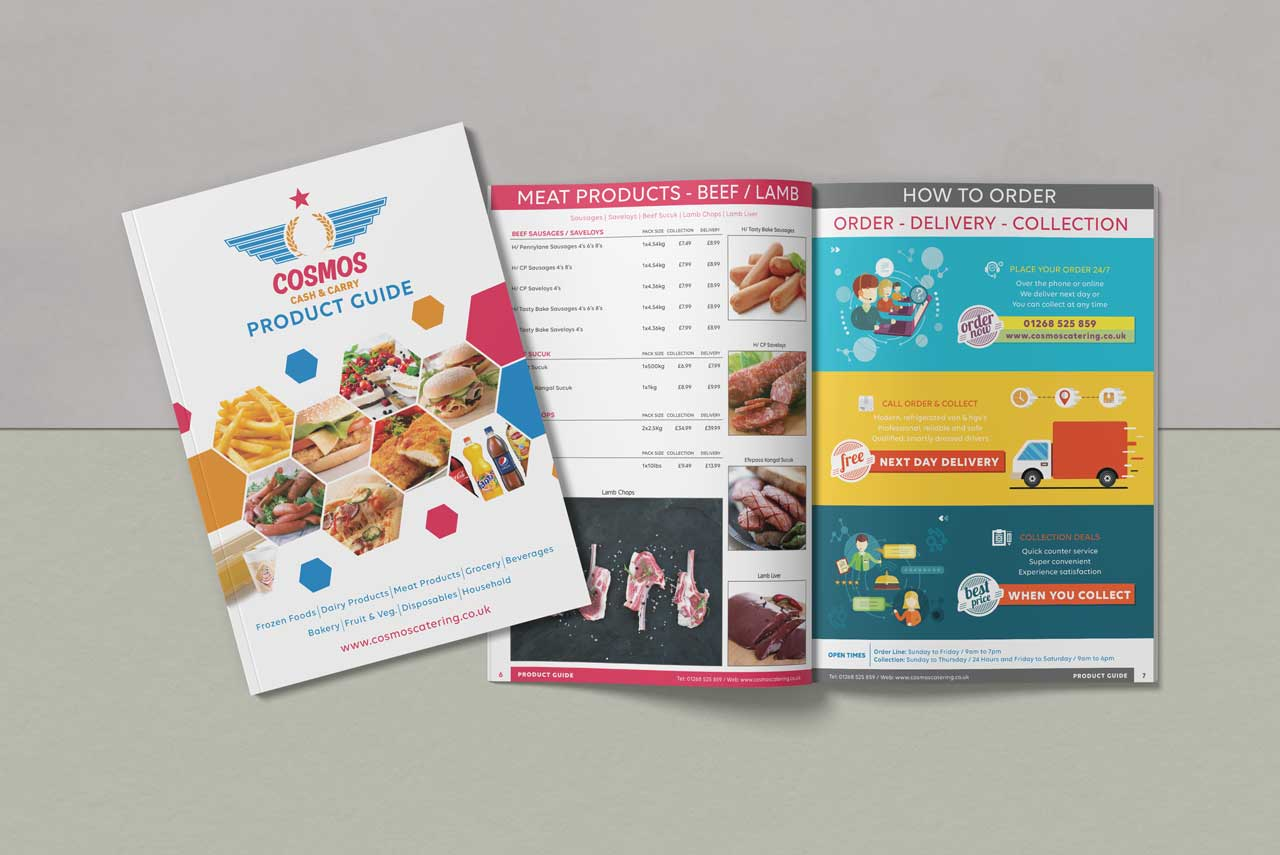 Catalogue for Cosmos Catering