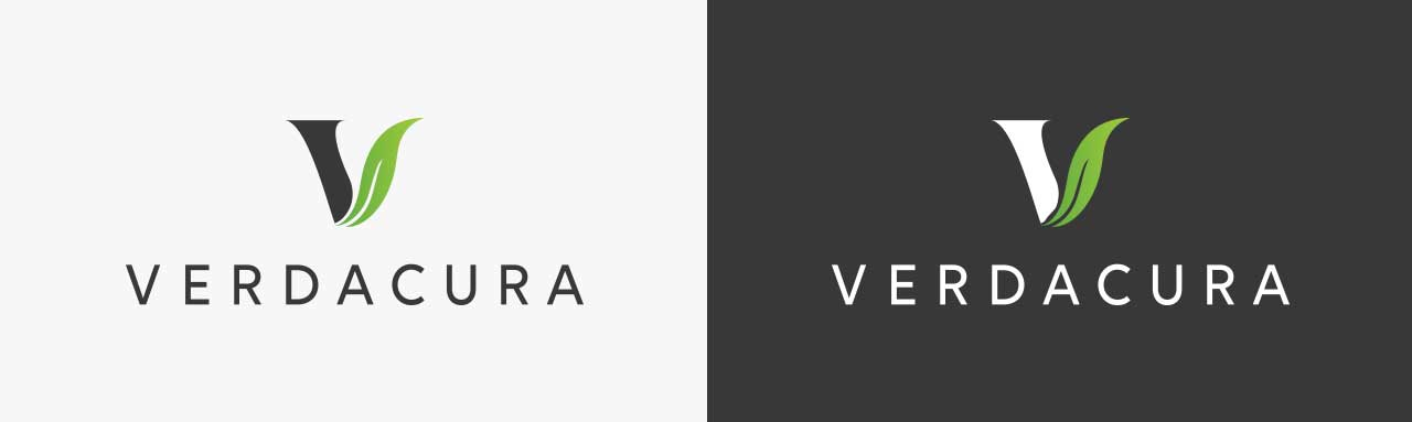 Logo design for Verdacura cosmetics