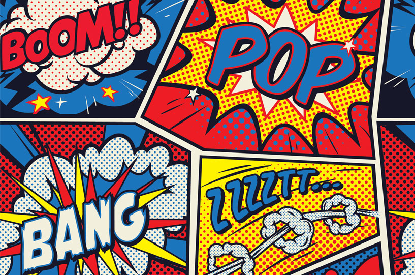 pop art comic book page