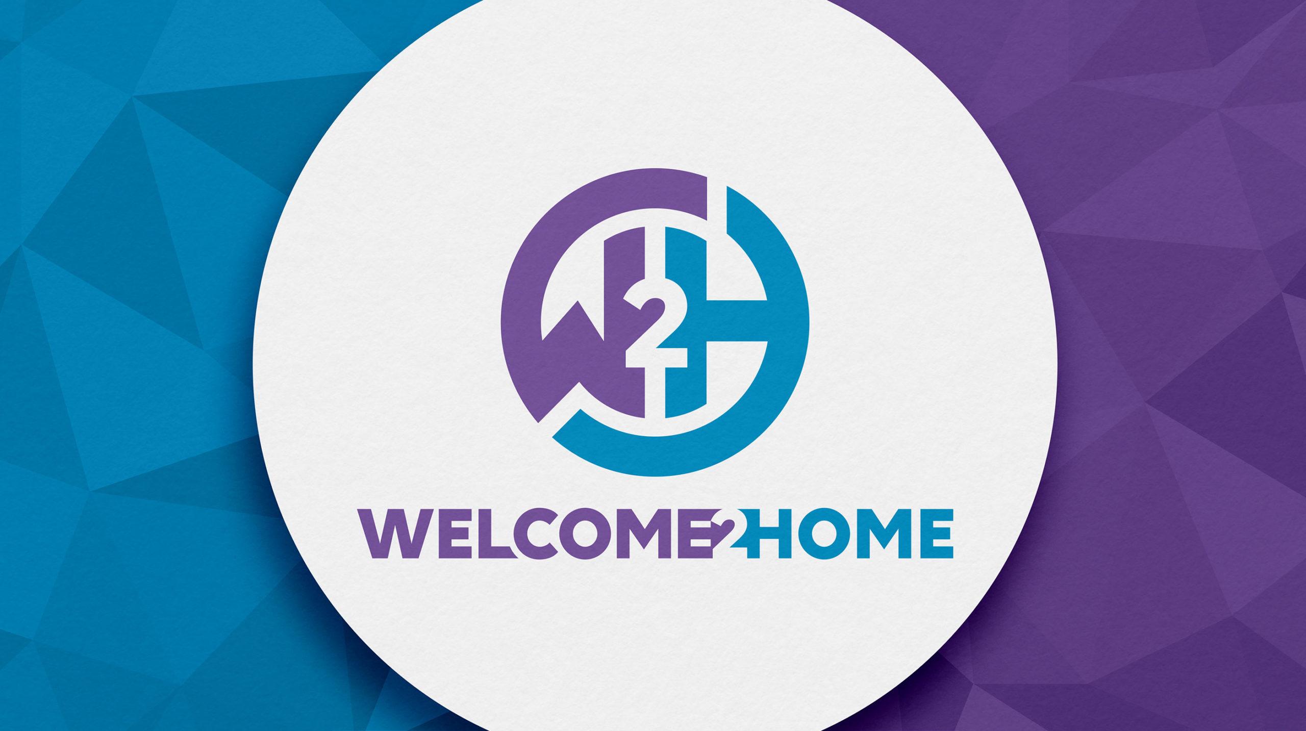 welcome 2 home logo designed by BONB Creative & Design