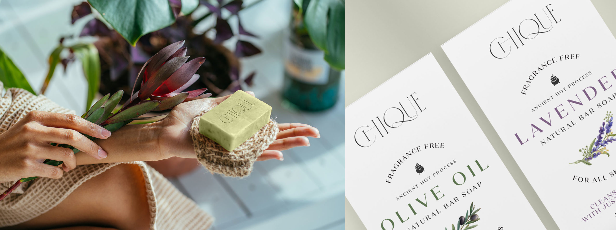 Chique bar soap – product and packaging - BONB Creative & Design