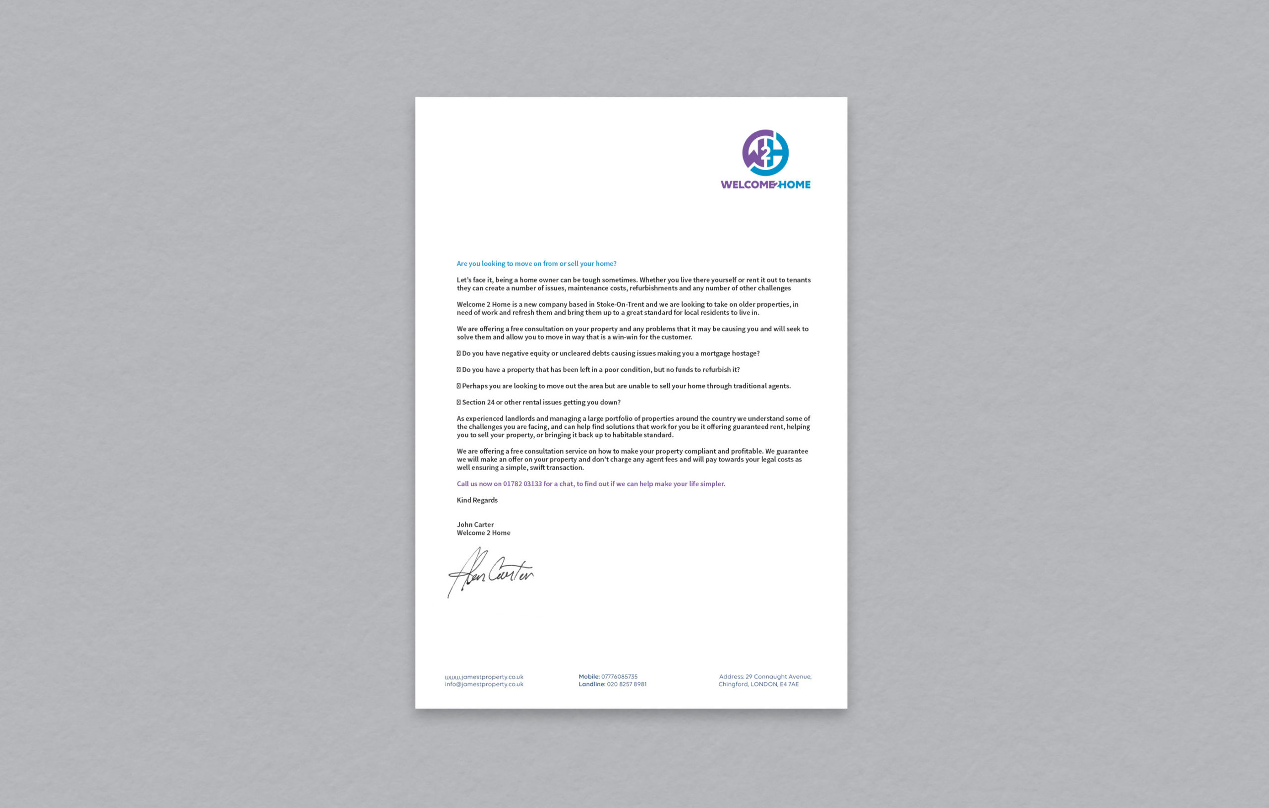 Digital letterhead designed by BONB Creative & Design