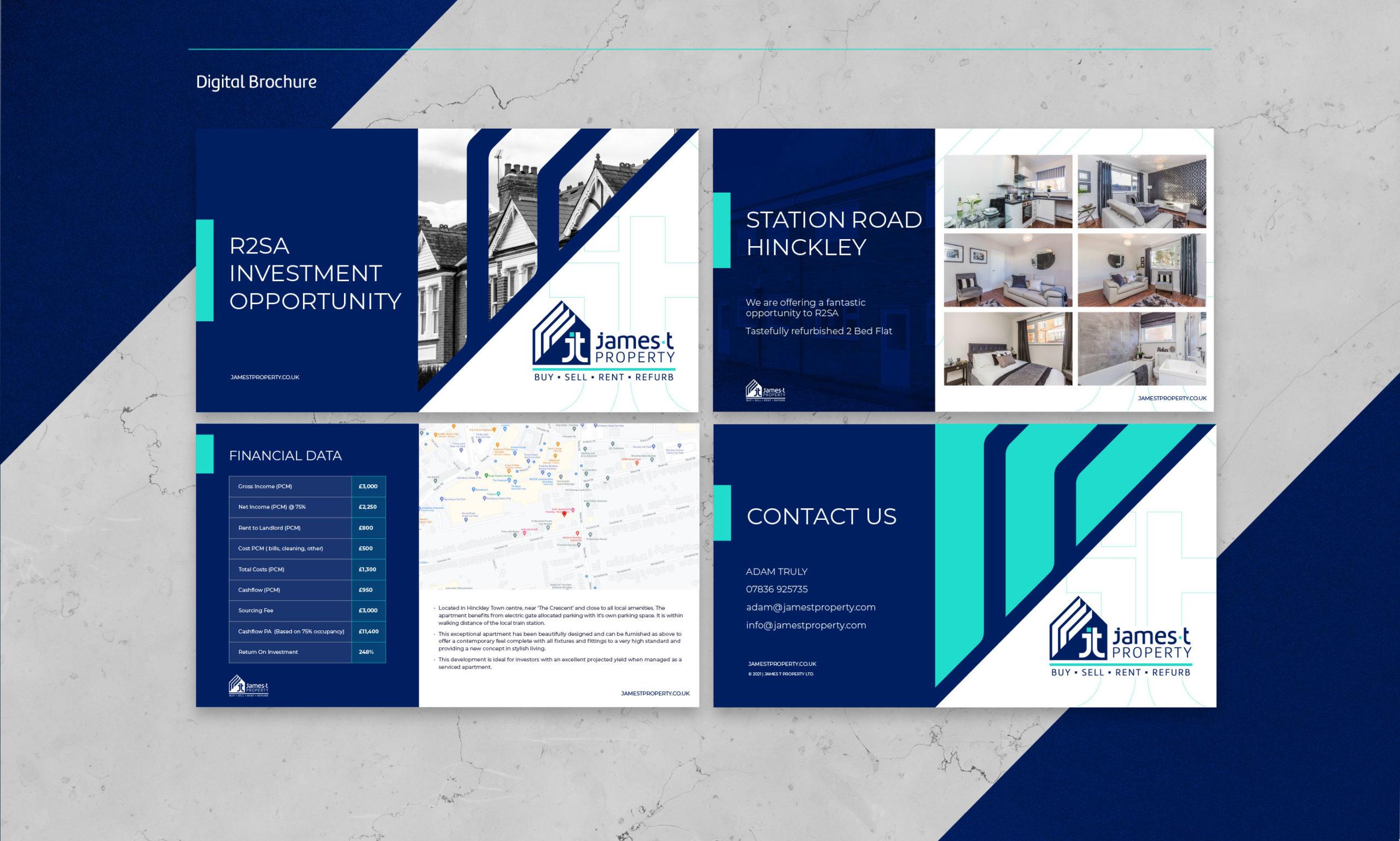 New digital brochure for James T Property - BONB Creative & Design