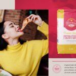 Harman Pizza Flour packaging as it appears in a print ad, each created by BONB Creative & Design
